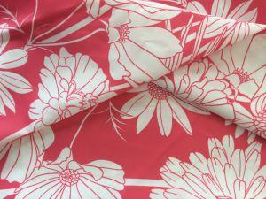 Tecido de poliéster impresso de flores para as mulheres casacos para baixo