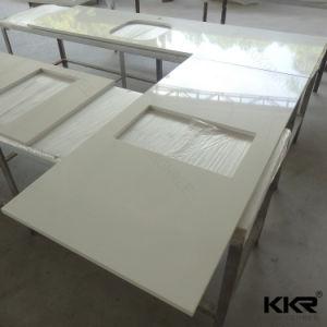 Kingkonree 60  2cmの厚い水晶大理石の石のキッチンカウンター