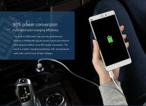 Cargador de coche universal móvil Dual USB Cargador de coche de plata