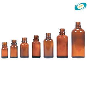 Bottiglie di vetro ambrate profonde del contagoccia utilizzate per il riempimento degli oli essenziali