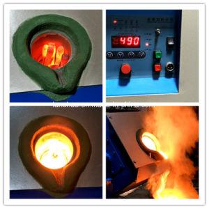 90kw Que Inclina el Tipo Pequeño Horno Fusorio de la Inducción Eléctrica del Oro