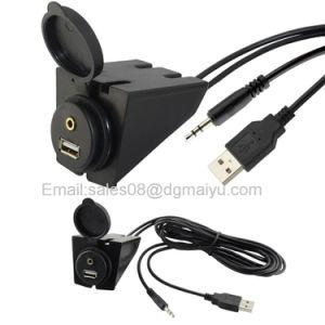 2 метров длины USB и вход Aux 3,5 мм добавочный номер для утопленного монтажа 6,5 фута аудио кабель для автомобиля, лодки и мотоциклов