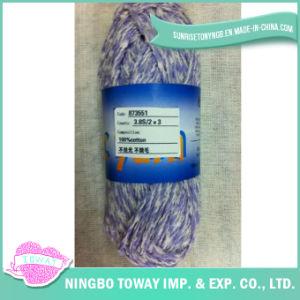 100% algodão Cross Stitch Tecelagem de fios de lã suéter tricotar