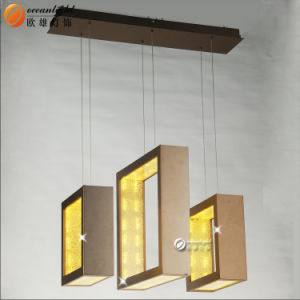 La moderna lámpara colgante lámpara de araña de luces LED colgante