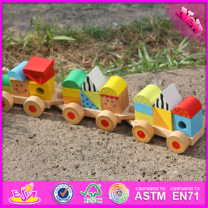 2016 Nouveau Design Fashion Kids Toy Train en bois le bloc W04A282