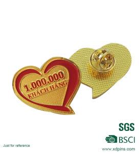 慈善のためのカスタム中心のHaped Pinのバッジ