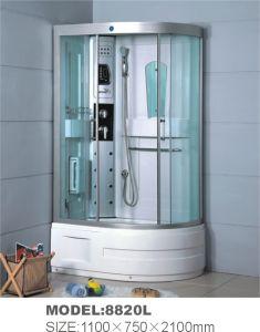Bandeja de vidrio de alta masaje completo cuarto de baño ducha 1100*750*2100mm (8820L)