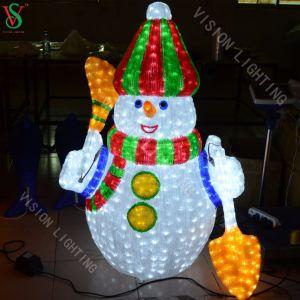 El muñeco de nieve de Navidad decoración de la luz con Ce aprobada