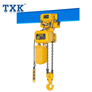 Txk 3トンの単一の速度のトロリーおよび日本の鎖が付いている電気チェーン起重機