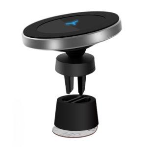 Le Qi personnalisée en usine magnétique standard de fixation voiture sans fil rapide/Chargeur de téléphone pour iPhone/Android