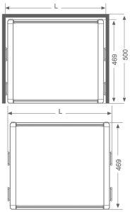 جديدة عملّيّة سحب دفع [رتّن] سلة مع مصعد منزلق ([أ009ب])