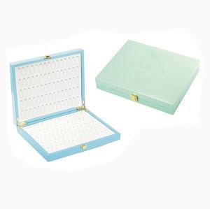 파란 색깔 PU 가죽 손은 만들었다 못 저장 상자 (6007)를