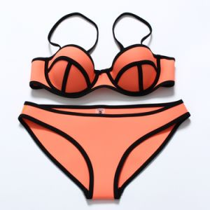 Sexy Bikini en néoprène néoprène couleur lumineux sous-vêtements