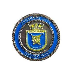 Moneta del blu marino del metallo di alta qualità con la doratura elettrolitica (YB-c-035)