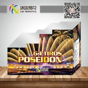 Gfcc5064m-ISM4037 64тирос Посейдон смешайте торт дисплей для использования вне помещений потребительских фейерверк
