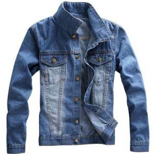 涼しい普及した新式の100%Cotton男性ジーンのジャケット