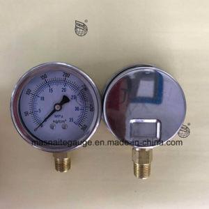 63mmひだを付けられたリングのケースが付いている35MPa油圧圧力計