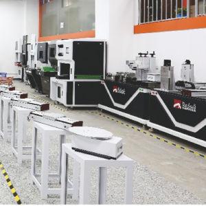 Faser-Fliegen-Spaltung-Kombination der Laser-Gravierfräsmaschine-120