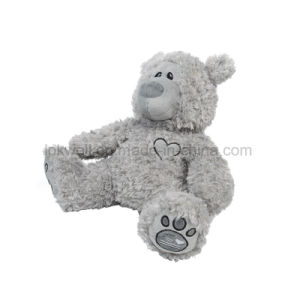 견면 벨벳에 의하여 채워지는 회색 음악 LED 가벼운 장난감 곰 인형 장난감