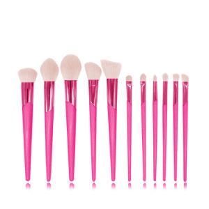 Het nieuwe Handvat Maquillaje van de Borstel van de Make-up van de Schoonheidsmiddelen van de Aankomst 11PCS Vastgestelde Glanzende