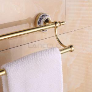 Fabricant de céramique en laiton finition dorée serviette Salle de bains accessoires de rack 10944e