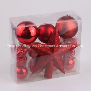 En plastique coloré personnalisé de haute qualité à l'ornement intérieur décoration de l'arbre de Noël Boule de Noël