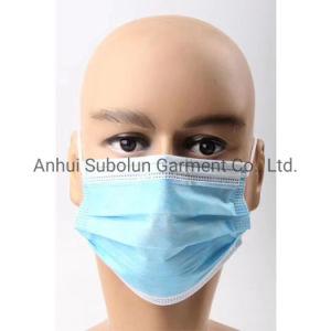 Non-Woven 3 telas cómodas transpirable desechables mascarilla quirúrgica medicina