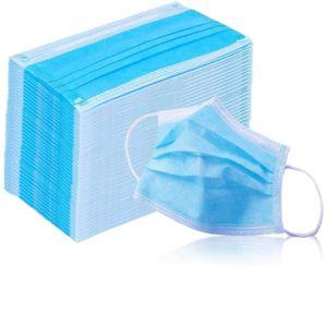 3 cirúrgicos descartáveis de alta qualidade Earloop Ply máscara facial, Azul