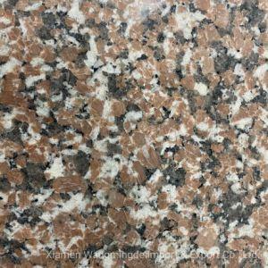 China elegante vermelho com veined Natural granito cobertura do piso
