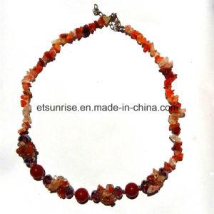 Juwelen van de Halsband van de Spaanders van de Kornalijn van het Kristal van de Edelsteen van de manier de Semi Natuurlijke