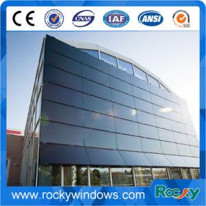 Boutique en ligne/combiné/Invisible/Structure de châssis en aluminium mur rideau en verre