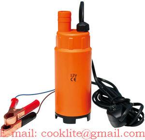 12V 24V DC 온/오프 스위치 30L/Min 51mm 차 트럭 야영 Portable를 가진 전기 소형 잠수할 수 있는 디젤 연료 물 기름 이동 펌프