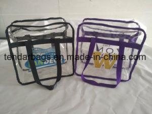 Effacer un sac de shopping avec fermeture à glissière Fermeture à glissière transparent Sac à main