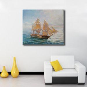 Veleiro Galpão de pintura a óleo para a decoração de paredes