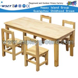 Muebles de jardín de infantes niños juegos de mesa y silla de madera ...