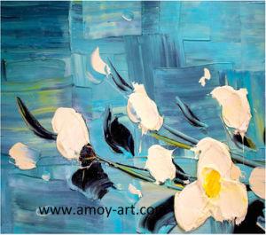 壁の装飾のためのハンドメイドの花の木のキャンバスの油絵