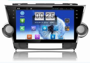 1024년 * 600 Resolution와 DVR Camera Input를 가진 Toyota Highlander를 위한 10.1 인치 Big Screen Android 4.4 Car Radio DVD