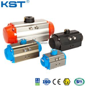Rack y el pistón del actuador neumático válvula rotativa con doble efecto/Retorno por resorte