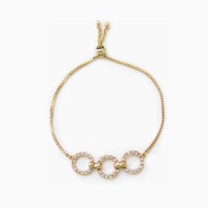 Venda a quente Novo Design simples com conectores de metal bracelete de cristal jóias bracelete ajustável