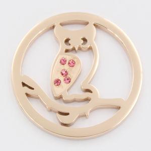 006b9d0415fd Colocar la placa de la moneda Owl varias medallón estilo Bisutería para  regalo