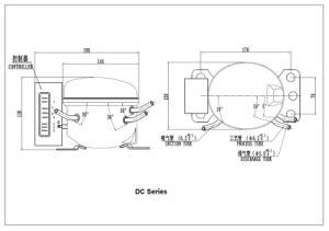 12V 24V DC parte de equipos de refrigeración coche nevera congelador frigorífico R600A Compresor hermético para vehículo Qdzy enfriador50g 108W