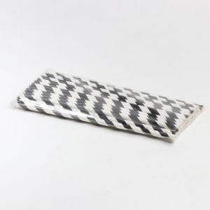 Cores misturadas decoração Partido StripedPalha de papel