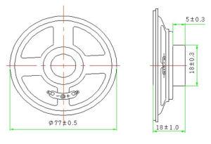 77mm 4ohm Altifalante redondo de 3 W do altifalante à prova de água