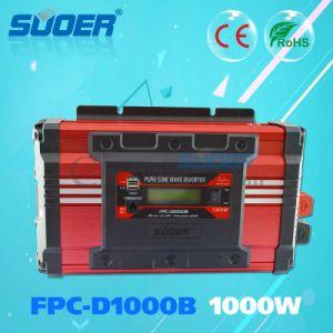 Suoer Precio Inversor de potencia de 24V 1kw Onda senoidal pura inversor con pantalla LCD (FPC-D1000B)