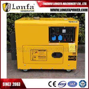 Китай Lonfa одна фаза 5 КВА бесшумный дизельный генератор цена