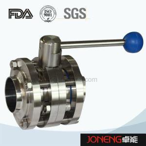 Valvola a farfalla rotonda manuale sanitaria della maniglia dell'acciaio inossidabile (JN-BV1001)