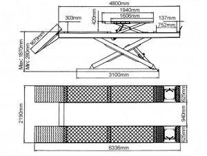 Емкость 4.0t гидравлической двойной ножничный подъемник (DX-4000выравнивания A)