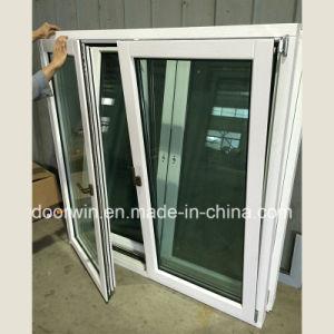 A inclinação de madeira de carvalho maciço gire a janela com vidro duplo