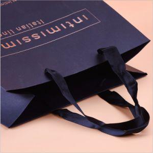 Lámina de oro bolsa de papel comercial de paño negro