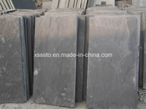 La pierre naturelle des tuiles en ardoise noire pour l'asphaltage et de Panneau mural